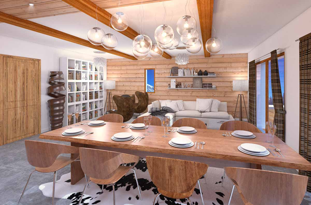 Appartement type : cuisine ouverte
